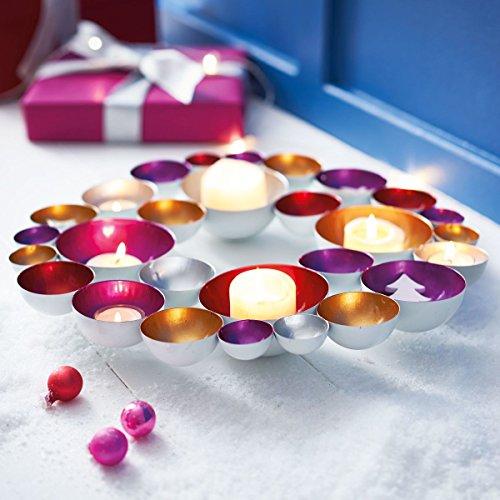 Pureday Weihnachtsdeko - Teelichthalter Bubbles - Metall - ca. Ø 40 cm