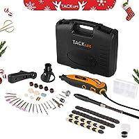 Amoladora eléctrica, Tacklife Mini amoladora Avanzado Profesional Kit de herramientas rotatorias multifunción con 80 accesorios y 3 accesorios Velocidad variable para artesañas
