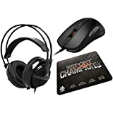 Bundle: SteelSeries eSport Champions Gaming Gear Collection (Includes SteelSeries Rival Optical Mous