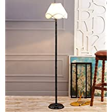 Off White Cotton Designer Stick Stick Floor Lamp /Standing Lamp By New Era For Living Room /Drawing Room/Office/Bedroom/Decoration /Corner/Gift/Lobby