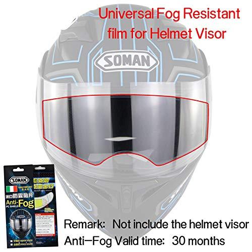 ETbotu Universal-Antifogging-Folie für Motorrad-Helmlinsen