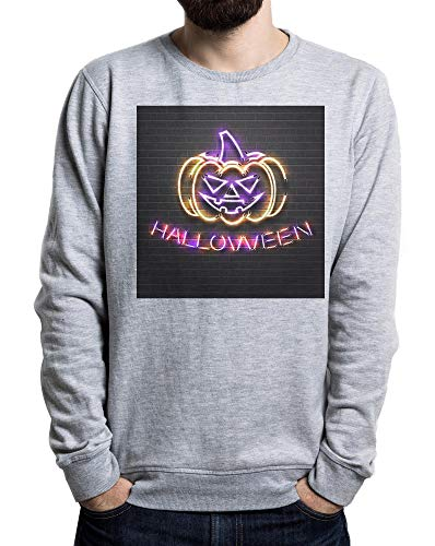 py Monster, Halloween Pumpkin Men's Sweater Grau Large ()