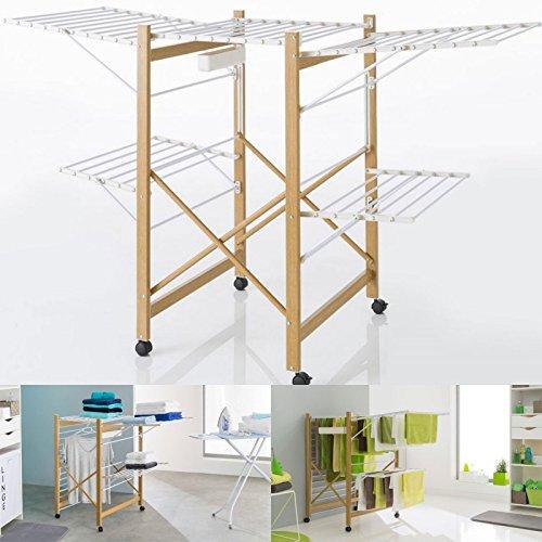Probache - Séchoir Deluxe Design Imitation Bois étendoir Extensible Pliabl