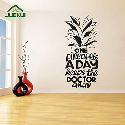 jiushizq Eine Ananas EIN Tag Entfernbare Wandaufkleber Für Kühlschrank Vinyl Aufkleber Wohnzimmer Schlafzimmer Kunst Dekor Wandbilder Grau 56X120 cm
