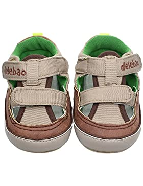Hongfei Infant Baby Boys Soft Rubber Sole Sole Velcro Sole Summer Sandals First Walkers Zapatos