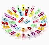 60 Stoffklammern Wonder Clips mehrfarbig Nähen Zubehöre Kunststoff Patchwork ilauke Buckle Multi-Use Nähmaschinenhelfer Kurzwaren