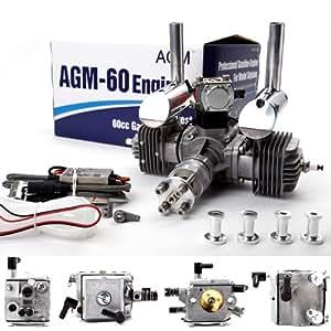 agm 60cc motor benzinmotor gas engine mit d mpfer cdi. Black Bedroom Furniture Sets. Home Design Ideas