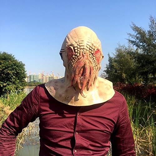 Circlefly Halloween Horror Mystery Octopus Maske Tier Haube Monster Alien beängstigend Perücke