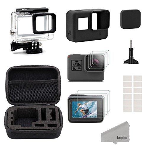 Este es un kit de accesorios de respaldo para tu GoPro Hero 6/5. El kit incluye los accesorios más básicos de monturas para tu Hero 5. Es un equipo ideal para viajar, deportes al aire libre y guardarlo en casa.  Cubre lentes: la tapa protectora de le...