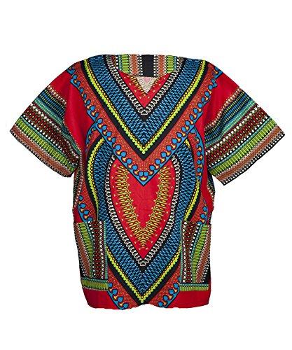 Lofbaz - Unisex Dashiki - Traditionelles Oberteil mit afrikanischem Druck S Heart (Dashiki Kostüm)