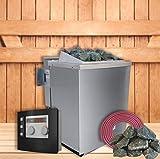 SudoreWell Karibu Bio-Kombiofen/Saunaofen 9 kW mit Moderner Außensteuerung Plus Zubehör