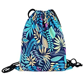 Sannysis bolsos de mujer con cordón, mochila infantil. Geométrico mochila de lona