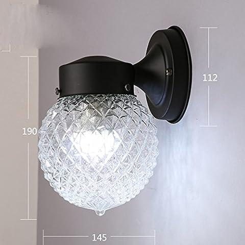 Miroir de Salle de Bain Minimaliste Moderne Miroir de Devant Lampe Toilette Éclairage de Maquillage Lumières Miroir Créatives Applique Murale Nordique,UNE