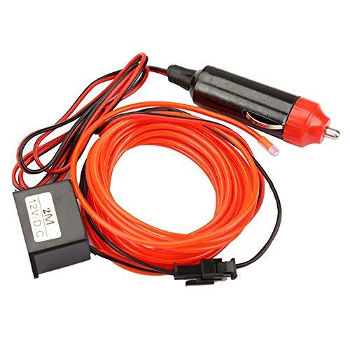 VORCOOL Neon Leuchtende Strobing Elektrolumineszenz Licht EL Draht LED Streifen Rotlicht Wasserdicht 2 Meter Undercar-kits