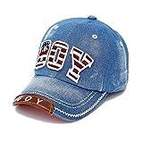 Casquettes de Base-ball Printemps Eté Automne Chic Chapeau de Garçons Filles Denim - Bleu
