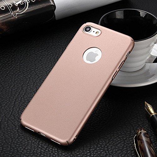 Für Apple IPhone 7 rückseitige Abdeckung, dünner dünner heller Sand-mattierter Matt-Abschluss-Ganzkörper-schützender Abdeckungs-Shell-Fall ( Color : Black ) Rose Gold