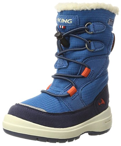 Viking Unisex-Kinder Totak Schneestiefel, Blau (Petrol/Navy 5505), 22 EU