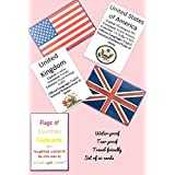 LOVE.LAUGH.LEARN Country's Flags, Currency / Capital / Languages Flashcards (Multicolor)