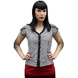 Rumble59 - Camisas - para mujer negro-blanco X-Large