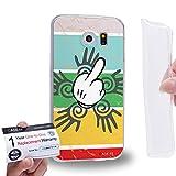 Case88 [Samsung Galaxy S6] Gel TPU Hülle / Schutzhülle & Garantiekarte - middle finger theme design DSE0303
