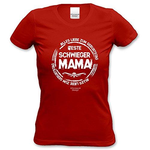 Beste Schwiegermama Super Cooles Schwiegermutter Fun-Damen-Oberteil als Geschenke-Idee Farbe: rot Rot