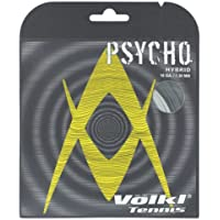 Psycho Hybrid 16G Tennis String Black and Silver by Volkl - 16 Tennis String Set