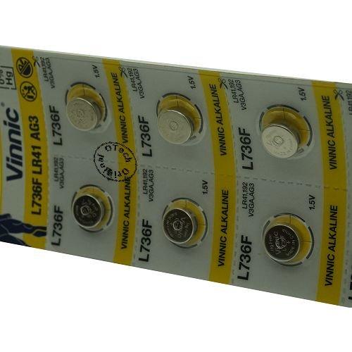 Vinnic L736F / LR41 / AG3 1.5V ALKALINE - Pack de 20