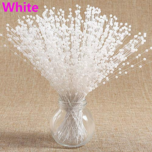10pcs New Wedding Decoration Party Supplies Bridal Flower Bouquet Tulle Crystal Bling Diamond Beads Chain Garland Artificial Pearls(10pcs/Pack+White) (Bead Garland Crystal)