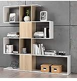 Habitdesign F00530301030_OAK Kafka D11 - Estantería libreria para oficina, comedor o salon,...