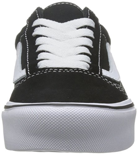 Vans Ua Old Skool Lite, Sneakers Basses Mixte Adulte, (Canvas) Black/Black Schwarz/Weiß