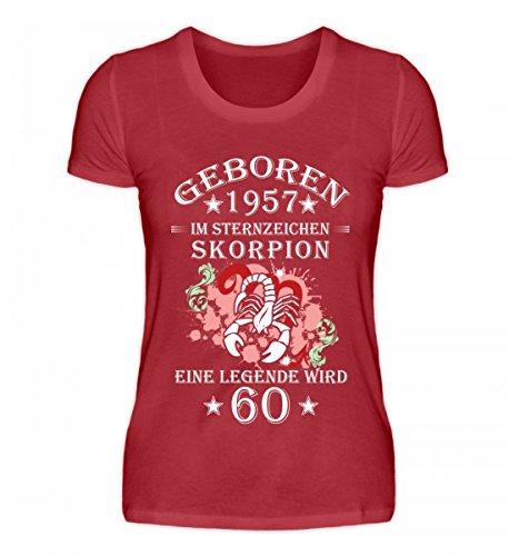 Shirtee Signore Di Alta Qualità Organica Segno Zodiacale Scorpione Diventa 60 Rosso Scuro
