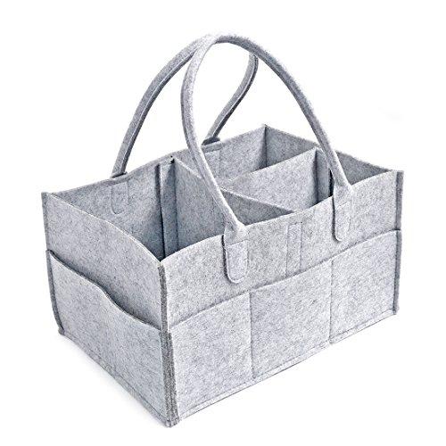 Jiyaru Baby Diaper Caddy Nursery Wipes Storage Bag Portable Basket Nappy Organizer