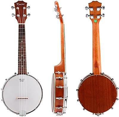 Kmise 4cuerdas Banjo ukelele UKE ukelele Banjolele concierto tamaño de 23pulgadas Sapele madera