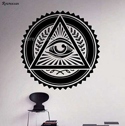 shiyusheng Illuminati Sign Wandtattoos Vinyl Aufkleber Religiöse Kultur All Seeing EyeWohnkulturFür WohnzimmerHaushaltswaren 42x42 cm