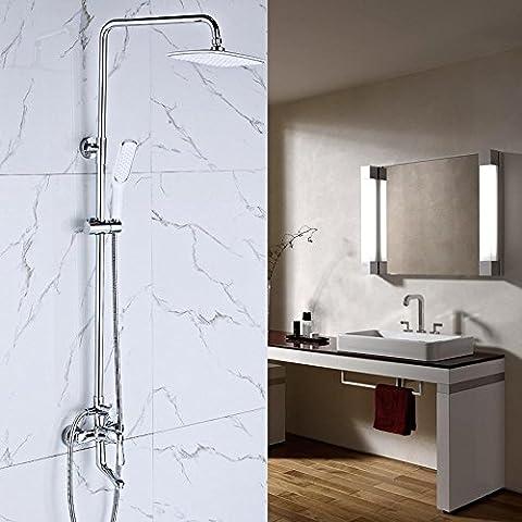 NHD-Shower set, copper faucet shower, shower, rain shower shower head nozzles, 3-speed control precision copper faucet, corrosion leading - Fusioni Acrilico Rod