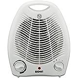 Radiateur soufflant électrique Rowi, Chauffage d'appoint, 2 niveaux de chauffage 1800W / 2000W