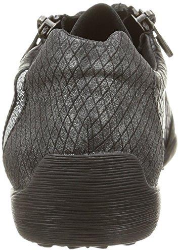 Rieker 45221-01, Baskets Basses Femme Noir (Noir Combiné)