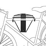 Relaxdays Fahrradhalterung, Für 2 Fahrräder, Fahrradhalter zur Wandmontage, Max. 50 kg, HBT 32 x 30 x 52 cm, schwarz