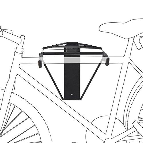 Relaxdays Support de vélo mural pliable Noir