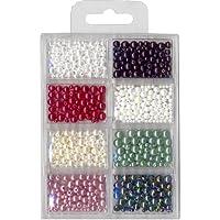 Wachsperlen ca. 1200 St. v 2,0, 3mm 4mm 5mm und 6mm 8 Farben gemischt