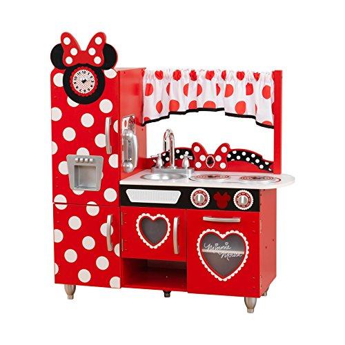KidKraft 53371 Cocina de juguete Jr. Minnie Mouse con diseño Vintage de Disney® de madera para niños con teléfono de juguete incluido