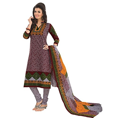 Rajnandini Women's cotton Printed Unstitched salwar suit Dress Material (Multi-Coloured_Free Size)