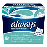 Always Lightly Scented Wipes-To-Go 20 Count (Pack of 4) by Always (English Manual) Bild 1
