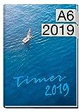 Chäff-Timer mini A6 Kalender 2019 [Sail away] 12 Monate Jan-Dez 2019 - Terminkalender mit Wochenplaner - Organizer - Wochenkalender