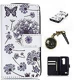 PU Silikon Schutzhülle Handyhülle Painted pc case cover hülle Handy-Fall-Haut Shell Abdeckungen für Smartphone (LG Leon 4G LTE H340N C40 C50)+Staubstecker (P8)