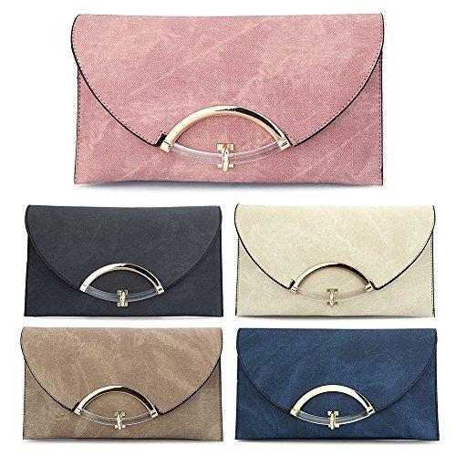 HT Envelope Bags, Poschette giorno donna purplish blue