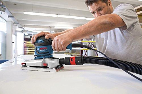 Bosch Professional GSS 280 AVE, 350 W Nennaufnahmeleistung, L-BOXX, Schleifpapier, Microfilter Box, Zusatzhandgriff