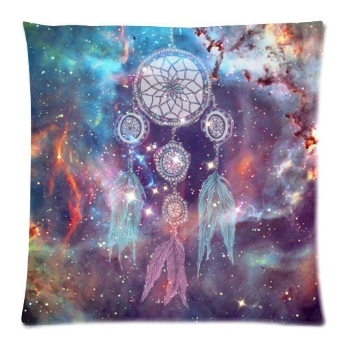 WITHY Dream Catcher Cushion Cover Case Zippered Pillow Cover Square Throw Pillow Shell for Sofa (Twin Sides),Cover Size:20 x 20 Inch(50cm x 50cm) Ws Soft Shell