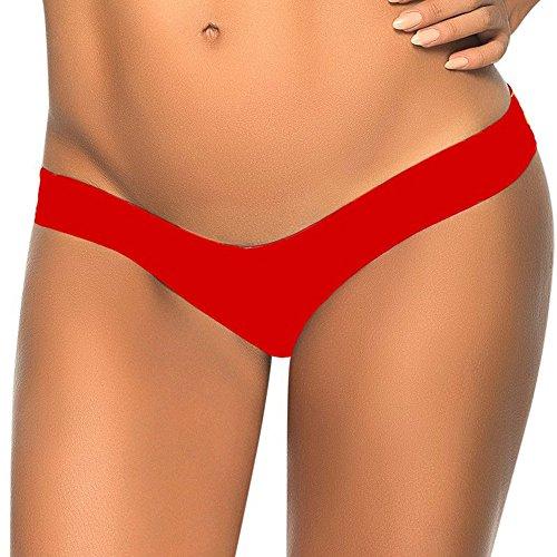 TWIFER Damen Bikini Bottom Slip Thong Badeanzug Bade Bademode Tanga Brazilian (Slip Hose)