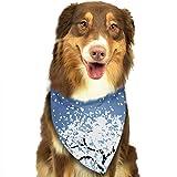 Osmykqe Crystal Snowflake Hund Bandana Pet Schal für kleine mittelgroße Hunde Zubehör